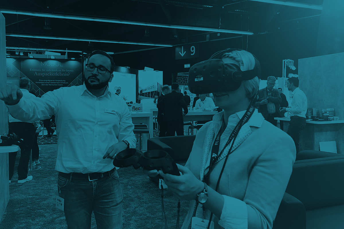 DOMENICEAU Classic. Digital. Live. – Lifestyle in work processes – Virtual Reality Entwicklung – Messe